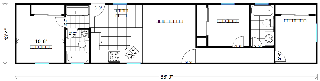 Portable Employee Housing Full Size Family Home Little House on