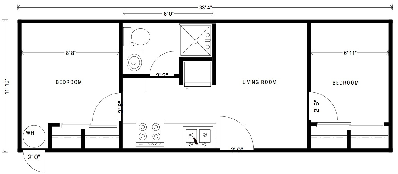 16X40 Cabin Floor Plans 16x40 Cabin Floor Plans Pinterest