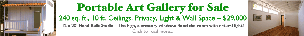 Portable Art Gallery Sale Banner
